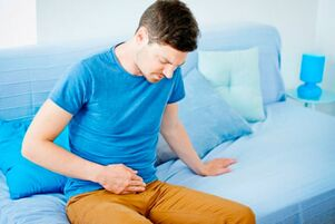 Pain in the lower abdomen is the first sign of impending prostatitis